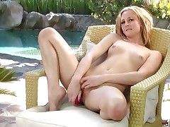 Hot Tatum Woods can't live without toying her moist wet slot