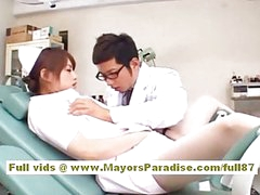 Akiho Yoshizawa Hot Asian nurse enjoys teasing the doctor