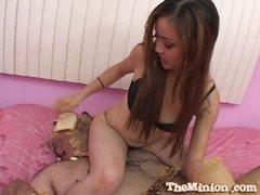 Ravishing oriental babe likes fucking sweet dongs
