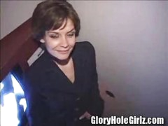 Shy office manager breaks out of her shell at the gloryhole
