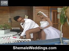 Camile handsome t-girl bride