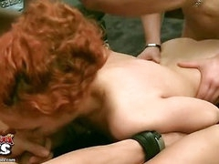 Horny dudes call a cleaner and fuck her hard