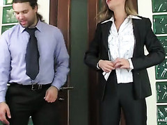 Female co-worker with a precious behind getting her constricted butthole crammed hard