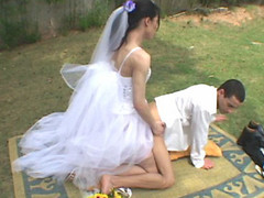 Wedding ceremony with sheboy bride results in sore a-hole of her nasty fiance