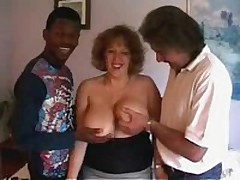 Spruce crumpet with giant soft bra buddies receives ready to satisfy even 2 rock hard dicks! That playgirl sucks one as well as the other rods and moves on them furiously!
