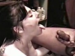 Doxy Angie acquires a sperm shower from a large cock, all in slo motion. Angie sucks the cream from a large 10-Pounder until that chick is sprayed with a giant facial