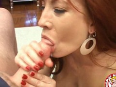 Aged babe Brittany Oconnell acquires a load of cum squirted in her mouth.
