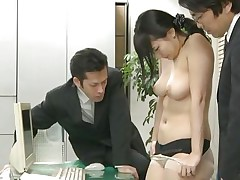 Did Megumi ever think that this could happen to her at the office? This honey trusted her coworkers but they had a plan with her sexy booty from the beginning. Now the Nippon honey is in big trouble and that honey knows it. At first that honey is asked to undress and then bow over, showing her holes. Then that honey acquires fucked.