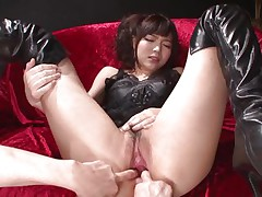 This sinless looking fur pie named Megumi is a fucking whore. This babe was laying on that bed burning with craving when I came and start playing with her holes. Megumi offered her gazoo and enjoyed what I did to it. Using some sex toy I happy this bitch and stuffed her rectal hole and that wet and wet pussy.