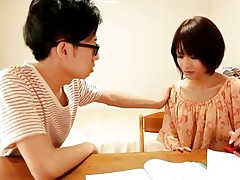 This Japanese teacher is absolutely gorgeous! This chick is a pecker magnet and that dorky student of hers can't think about nothing except her hot slender body. Her angelic face with those big fleshly lips, her miniature mounds and hot haunches are just also much to be neglected. He is going to have some pleasure with her!