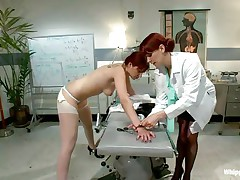 This is the kind of doc that you will barely await to see. She's a devilish redhead with a excitement to dominated, especially other sluts! Her patient came for a routine check and discovered herself exposed and a-hole slapped until that sexy a-hole turned red. Now that the doc slapped her she licks her booty with passion.