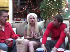 Astonishing Group Sex In Christmas Party