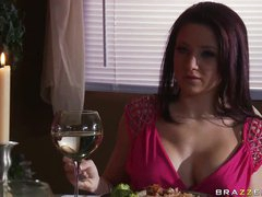 Spectacular Brunette Charity Bangs Gets Drilled and Jizzed On Her Jugs