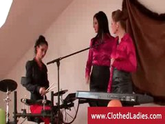 Posh band women going naughty and wild with eating snatch