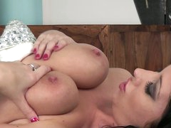 Brunette Lexi Lowe with bewitching big marangos
